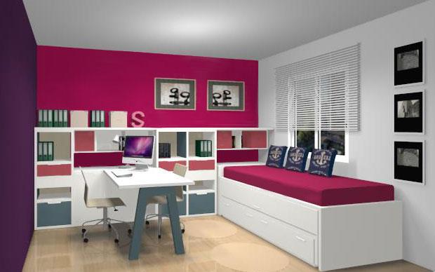 Espacio de trabajo y dormitorio de invitados - Habitacion de invitados ...