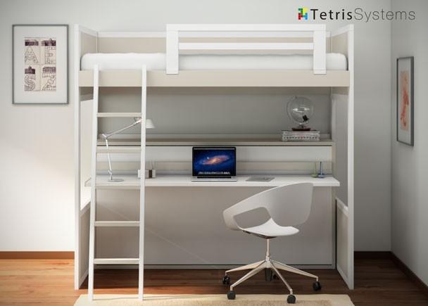 Presenta tetris systems elmenut - Litera con escritorio debajo ...