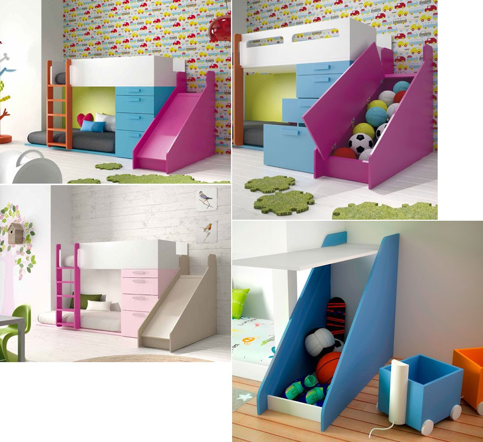 Habitaciones infantiles decoradas con literas - Literas infantiles divertidas ...