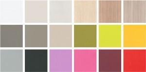 Colores base y de combinación de madera