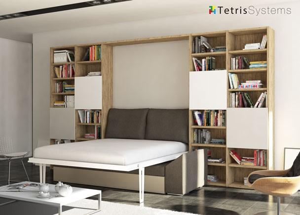 Presentamos las camas abatibles con sof s for Sofa cama armario