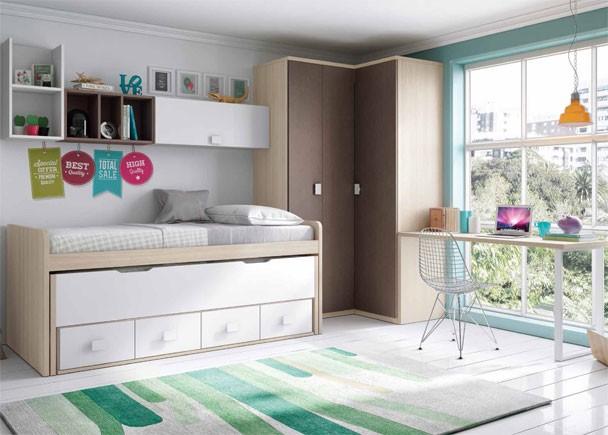 Dormitorios juveniles infantiles y beb s abatibles elmenut for Armarios juveniles baratos