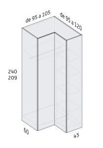 Armarios caracter sticas y soluciones de espacio - Armarios de esquina a medida ...