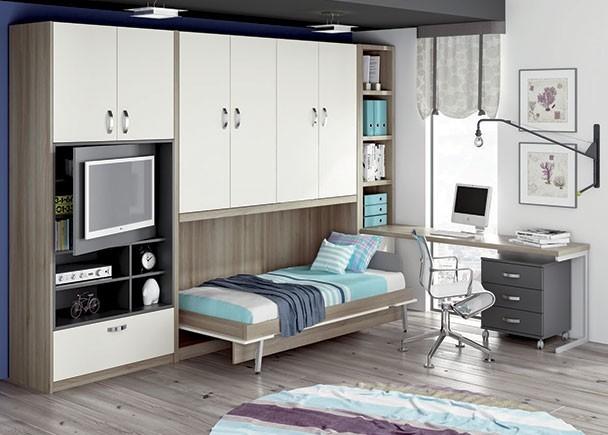 Dormitorios juveniles infantiles y beb s abatibles elmenut - Dormitorio juvenil pequeno ...