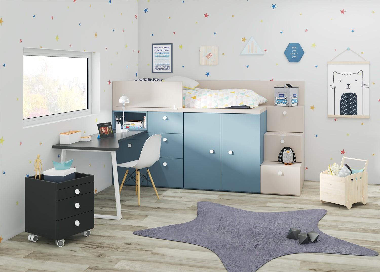Cama con armario para niños