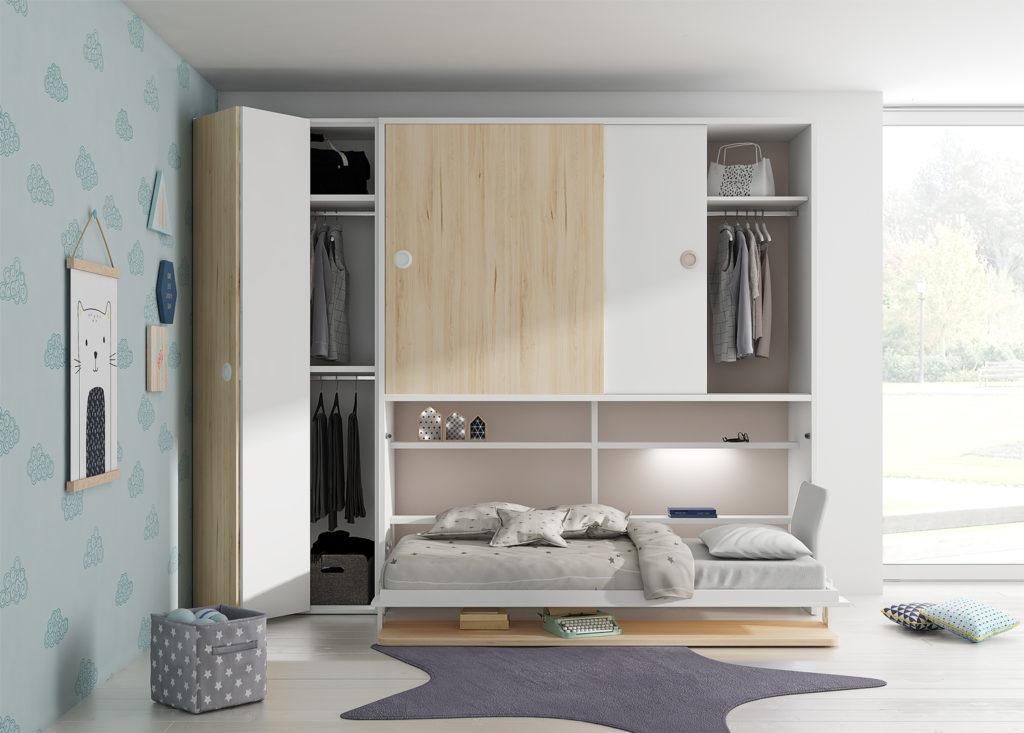 Cama abatible con armario