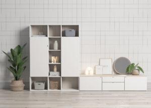cómoda con armario