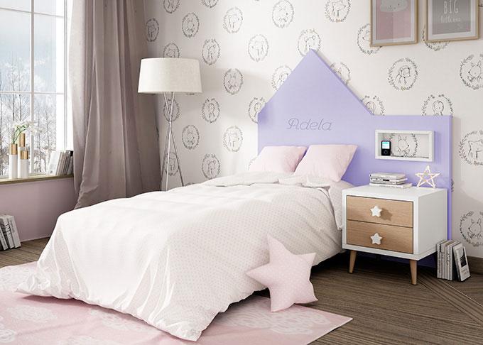 cabezal casita lila