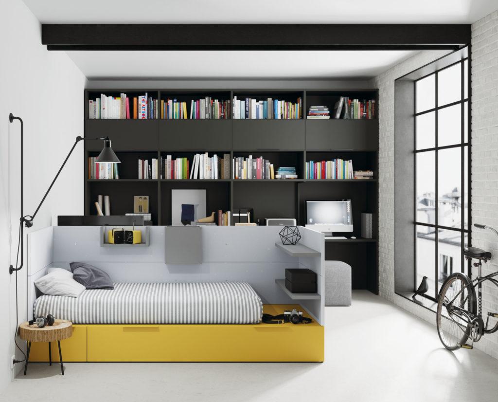 dormitorio cabecero separador ambientes