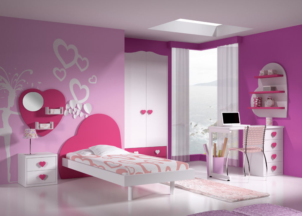 dormitorio cabezal corazón