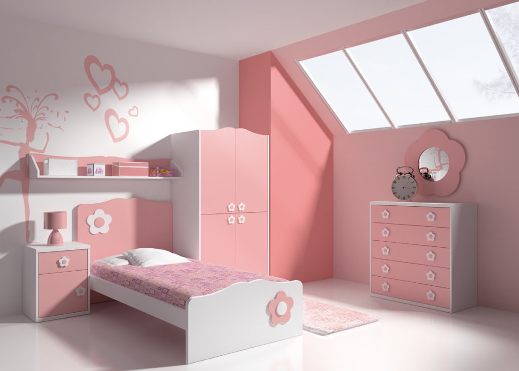 dormitorios con cabezal flor