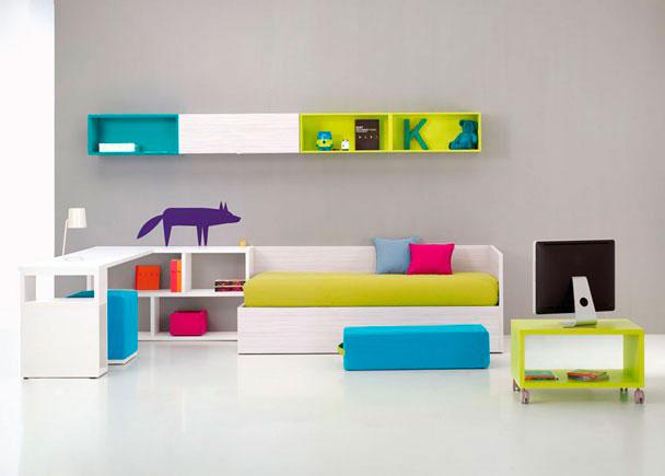 Habitaci n juvenil con cama canap abatible elmenut - Habitacion cama abatible ...