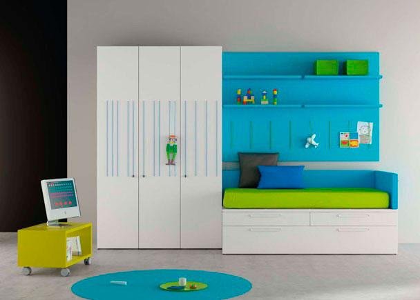 Habitaci n infantil original con armario elastic elmenut for Armario habitacion infantil