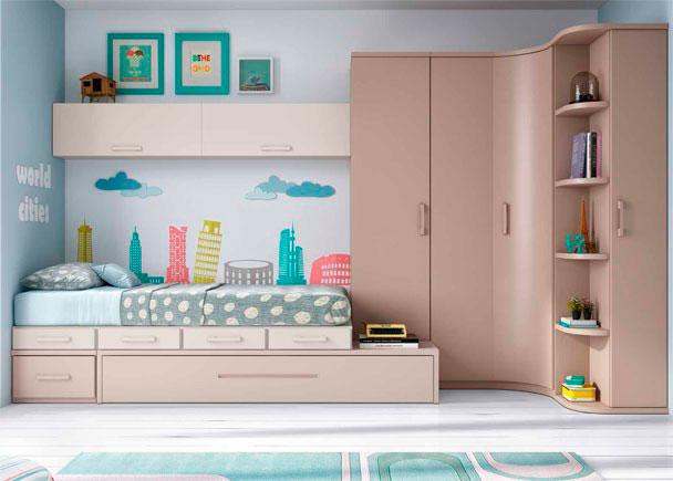 Habitaci n juvenil linea modular con 2 camas elmenut - Precios de habitaciones infantiles ...