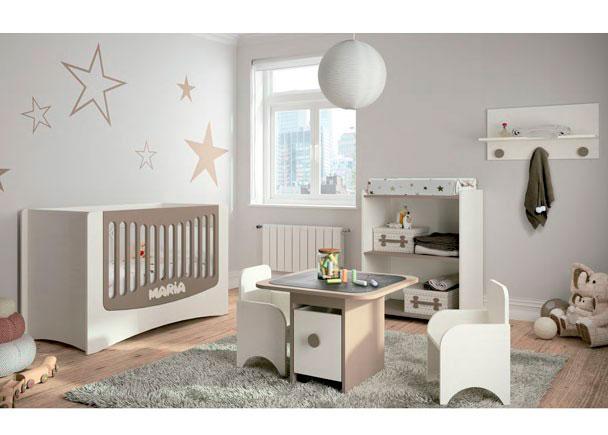 Dormitorio para beb con cuna convertible easy elmenut - Habitacion convertible bebe ...