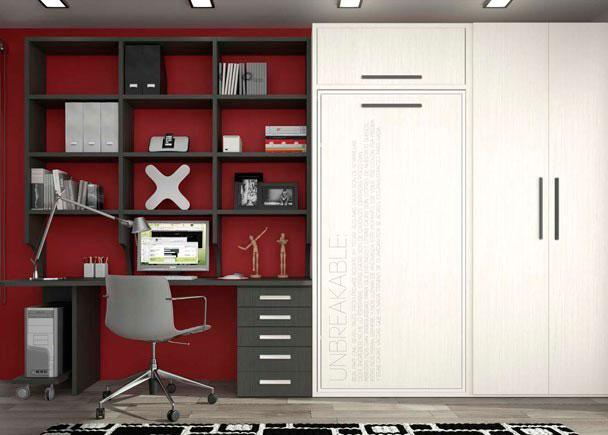 Abatible vertical altillo armario zona de estudio elmenut - Armarios con altillo ...