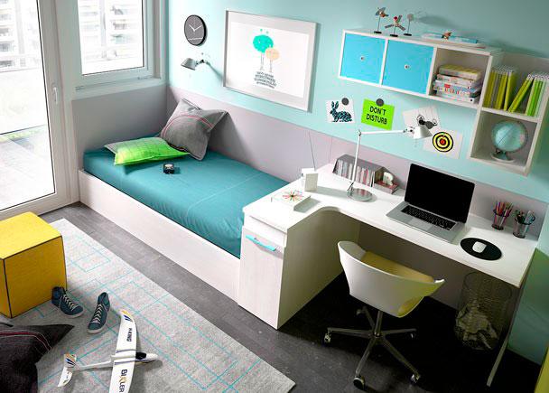 Juvenil con cama nido modular escritorio rinc n elmenut for Cama nido con arcon