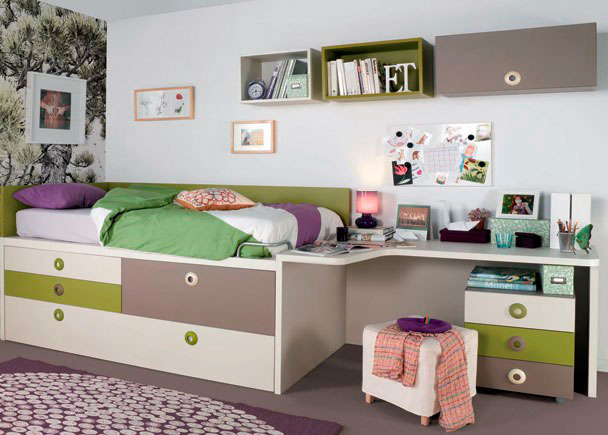 Ideas para decorar dormitorios juveniles for Dormitorio estudio