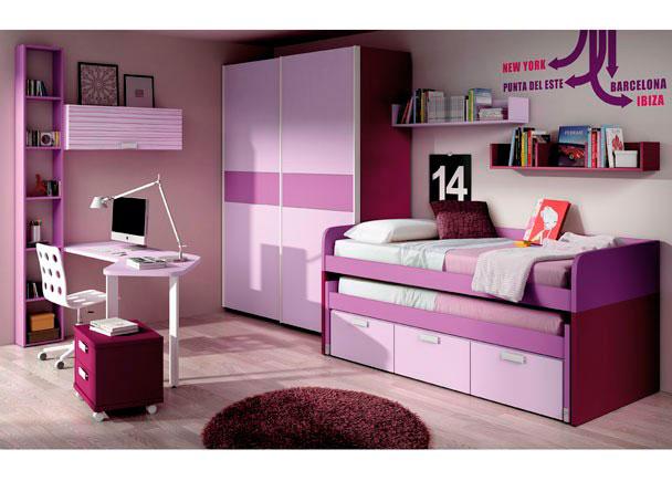 Dormitorio Lila ~ Dormitorio en lavanda, lila, berenjena y rayas lila Elmenut