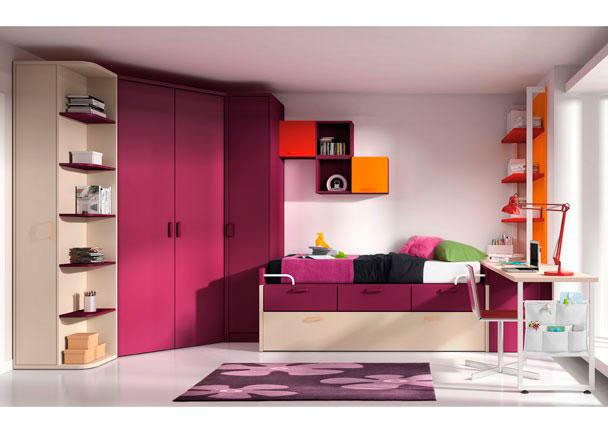 Dormitorio juvenil 528 372012 elmenut for Muebles rey zamora