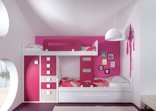 Dormitorio infantil 112m 212013 elmenut for Habitaciones juveniles 3 camas