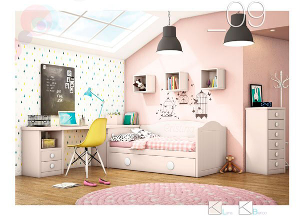 Dormitorios juveniles infantiles y beb s abatibles elmenut - Camas nido infantiles merkamueble ...
