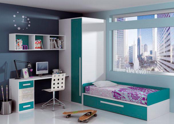 Dormitorio infantil 112m 112013 elmenut - Habitaciones infantiles dos camas ...