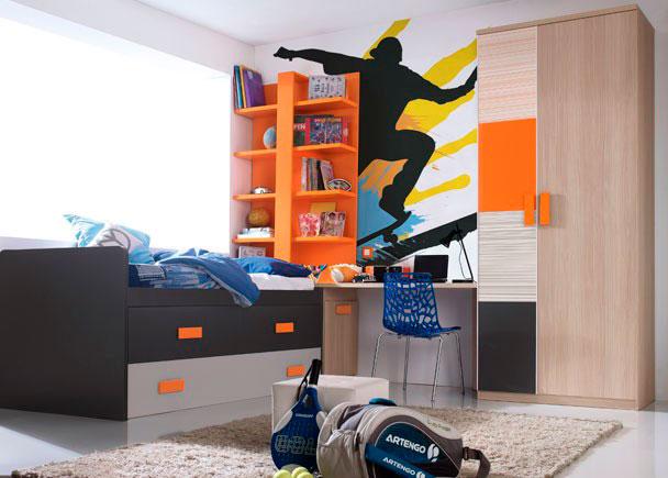 Dormitorio juvenil 545 5152012 elmenut - Decoracion habitacion juvenil masculina ...