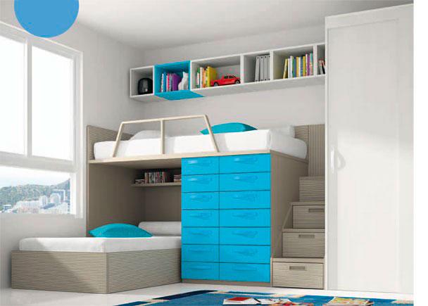 Dormitorio infantil armario una puerta corredera elmenut - Armario de una puerta ...