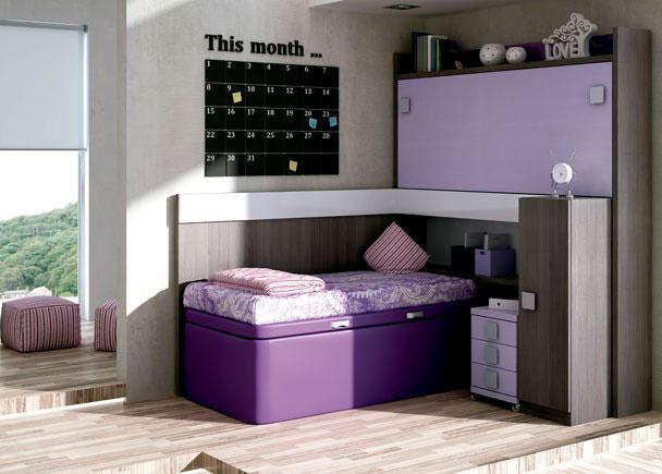 habitaci n infantil con cama abatible alta y canap