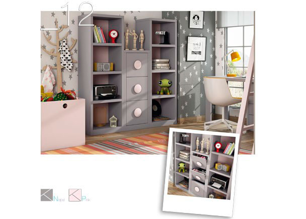 Zona estudio con librer as y zapatero 589 122016 elmenut for Disenar dormitorio juvenil 3d
