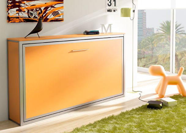 Habitaci n juvenil con cama abatible horizontal de 90 x for Habitaciones originales para adultos