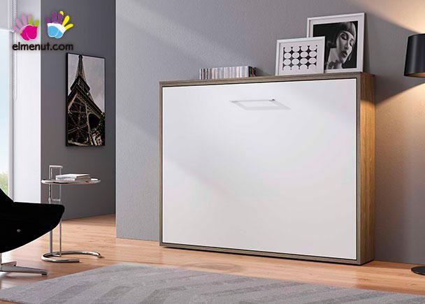 Cama abatible horizontal para colchon de 150 x 190 elmenut for Cama matrimonio abatible horizontal