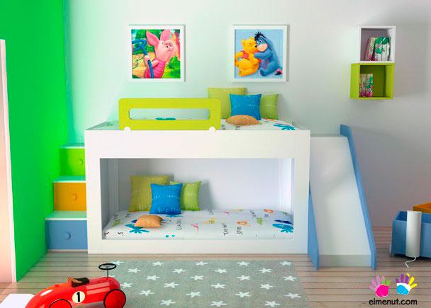 Zona juegos zona de descanso almacenamiento elmenut - Dormitorios infantiles ...