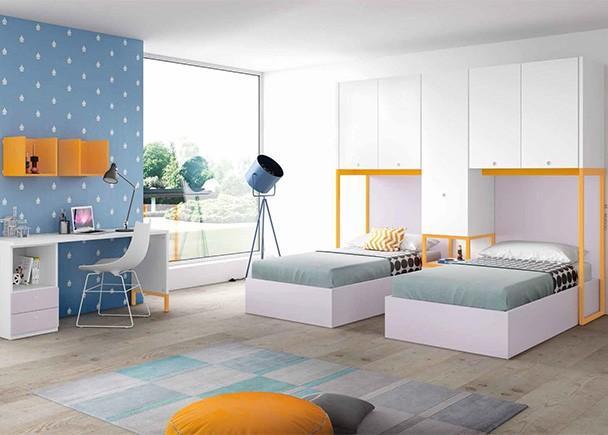 Cama abatible vertical armario p batientes elmenut for Cuadros dormitorio clasico