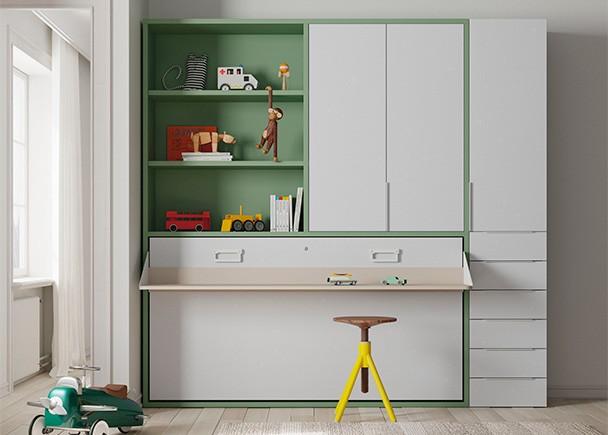 Armario Nancy ~ Dormitorio juvenil con abatible horizontal con armario y