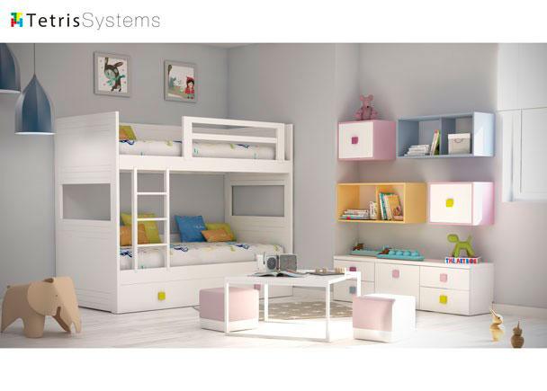 Habitaci n infantil litera elmenut - Habitacion infantil cama nido ...