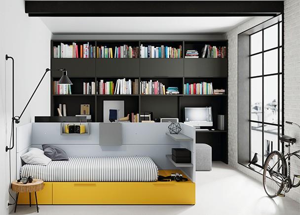 Habitaci n juvenil con 2 camas para 2 hermanos elmenut - Habitacion 2 camas ...