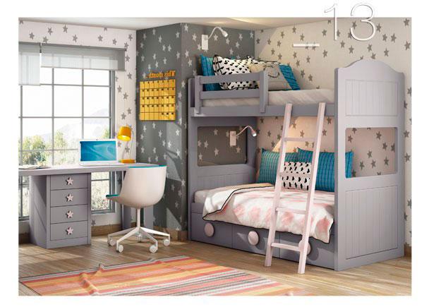 Litera con nido de 3 cajones y escritorio elmenut - Dormitorios infantiles malaga ...