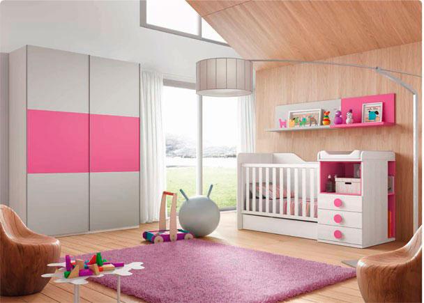 Dormitorio infantil con cuna convertible elmenut for Precios de dormitorios infantiles