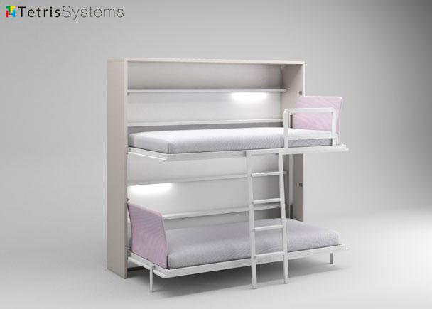 Litera abatible fondo 45 cm con luz elmenut - Sistema cama abatible ...