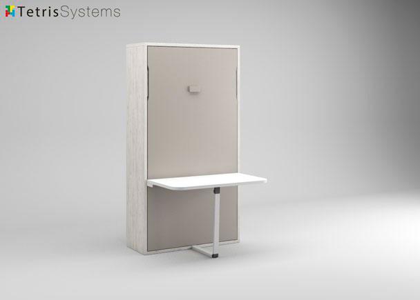 Cama plegable individual 190x90 con mesa elmenut - Cama con mesa incorporada ...