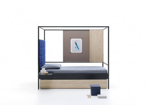 Cama abatible vertical con sofá 515-SF007