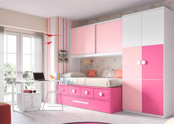 Habitaci n con compacto nido cajones elmenut - Precios de habitaciones infantiles ...