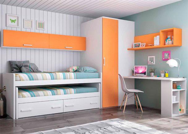 Infantil equipado con compacto alto 2 camas elmenut - Cuadros dormitorio juvenil ...