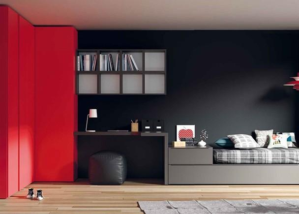 Las Camas Cubo, se adaptan a las medidas de tu espacio, para que puedas organizar separadamente la zona de estudio y la zona de descanso.