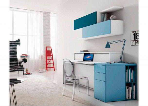 cama abatible horizontal y escritorio para saln