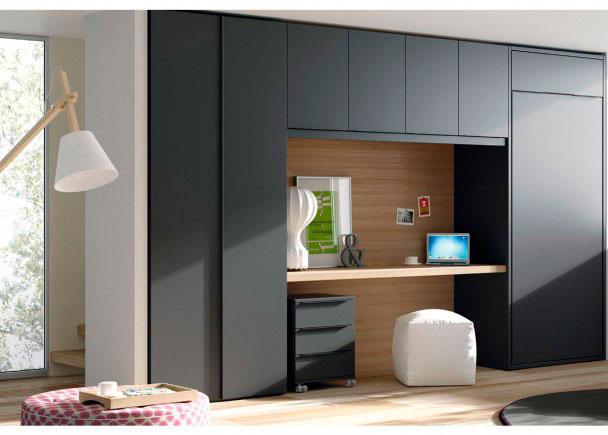 Habitaci n juvenil cama abatible vertical elmenut - Habitacion juvenil cama abatible ...