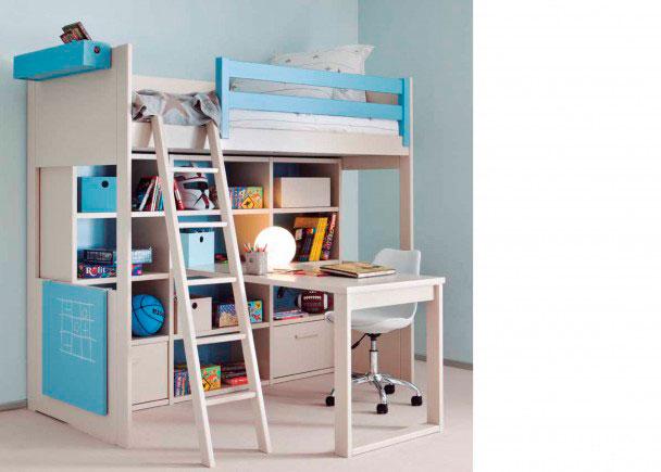 Dormitorio juvenil modular de alta calidad. Este mobiliario sigue una linea colonial y romántica. Está integramente fabricado en madera de haya con