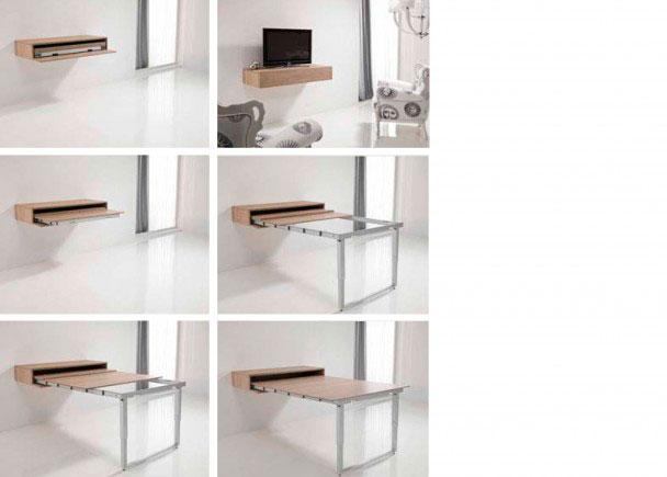 Mesa extensible para sal n comedor elmenut - Mesas plegables para salon ...